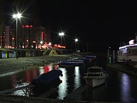 Le port de Neuchâtel by night
